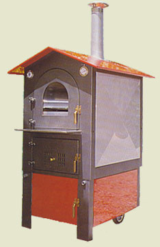 Wood stove in the metal indirect cooking