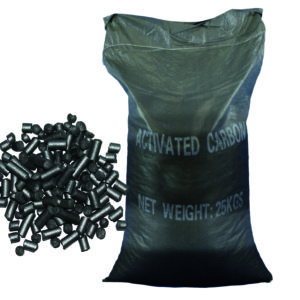 Activated carbon for the replacement of the head