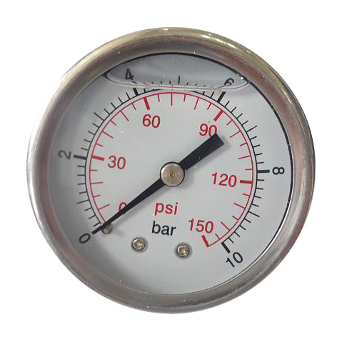 Pressure gauges with glycerine