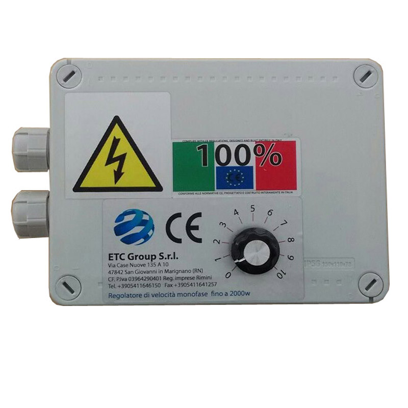 Speed regulators to 1 kw single phase